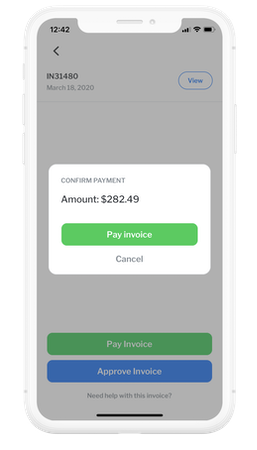 Mobile pay invoice