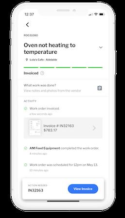 Mobile work order details