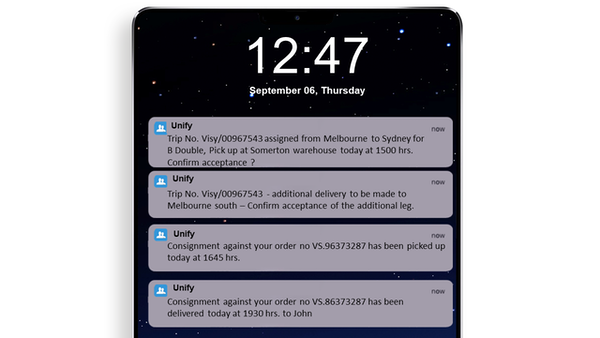Ramco alerts and notifications
