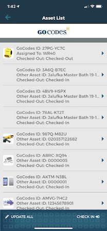 Mobile App- Asset List