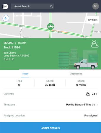 Mobile app details view