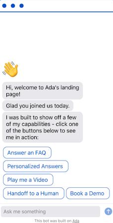 Ada mobile interaction