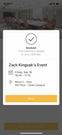 Mobile room booking confirmation