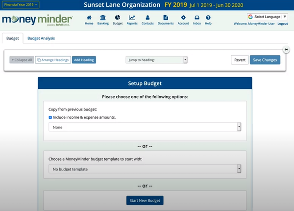 MoneyMinder budgeting