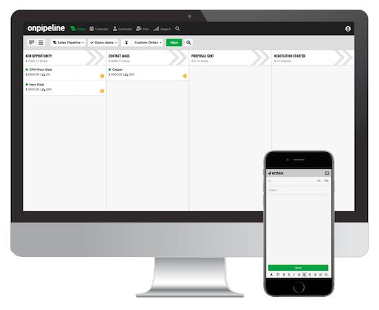 Onpipeline sales pipeline screenshot