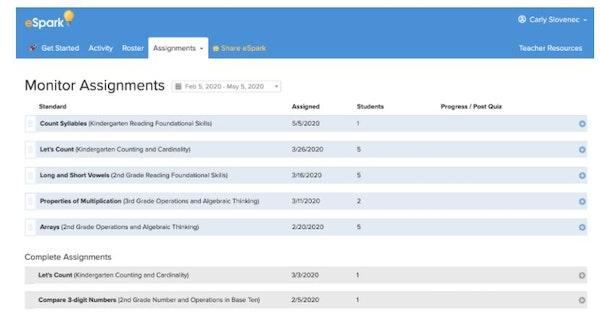 eSpark monitoring assignments