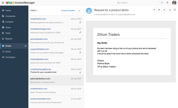 Zoho ContactManager - MS Outlook integration