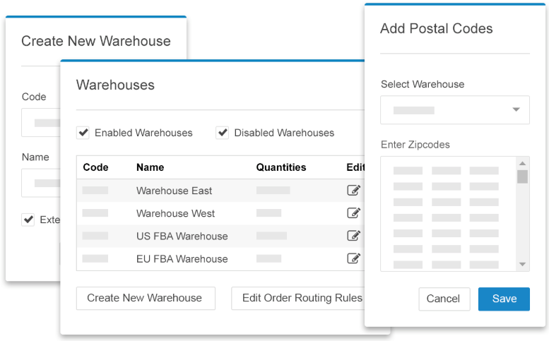 Multi-warehouse inventory visibility