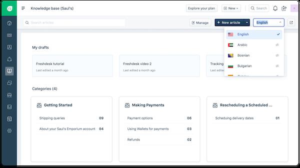 Freshdesk multilingual knowledge base