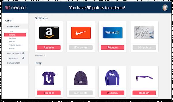 Nectar digital gift card rewards