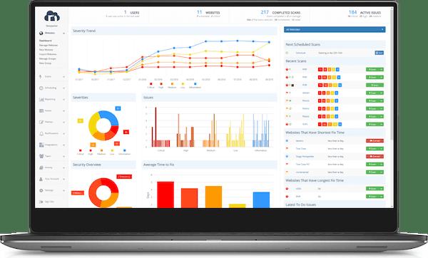 Netsparker dashboard screenshot