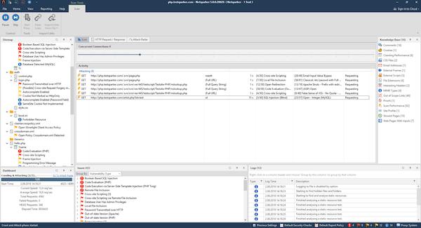 Netsparker scan tool screenshot