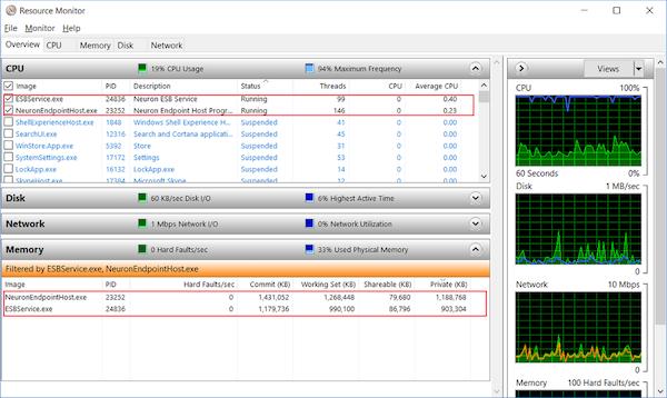 Neuron ESB CPU usage