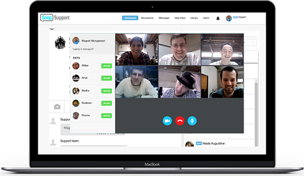SnapSupport live video chat