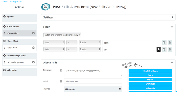 Opsgenie New relic integration