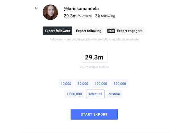 Export Ninja export followers
