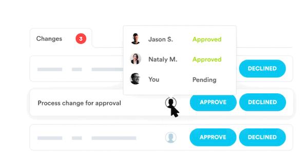 Nintex Promapp approval workflow screenshot