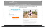 One Click Advocacy campaigns for non-profits screenshot