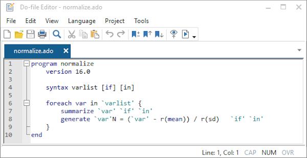 Stata file editor