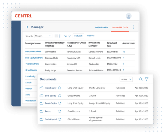 ODD360 manager data documents