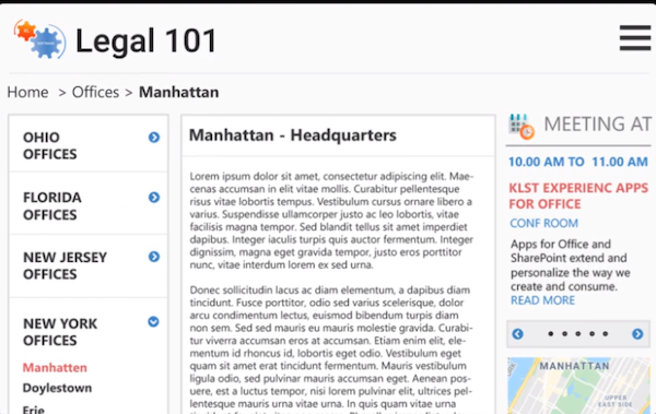 Legal101 office directory