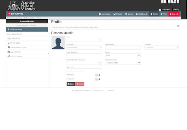 OmniGrants User Profile