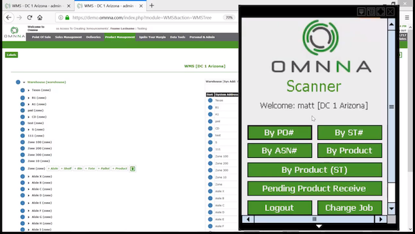 Omnna warehouse management system