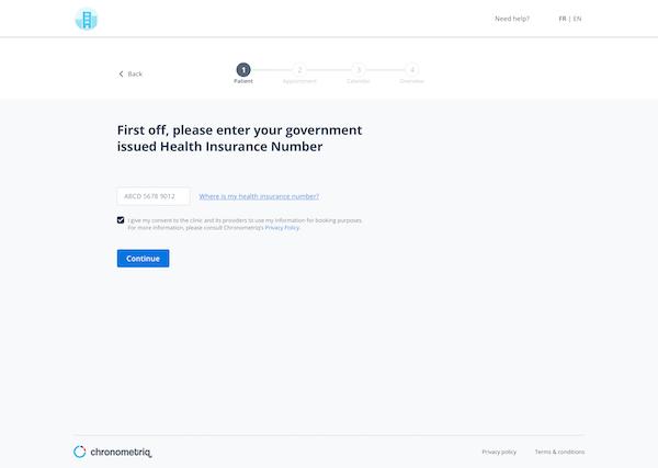 Chronometriq online patient booking
