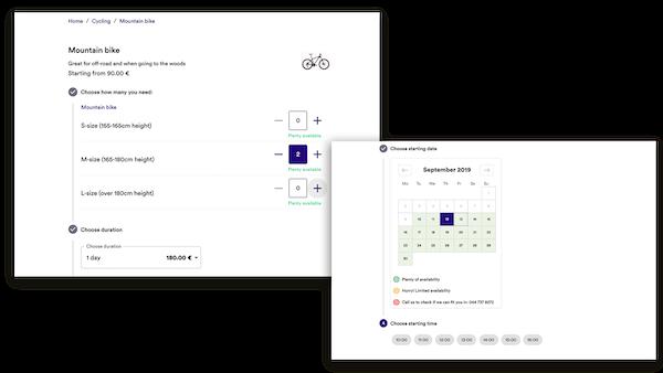 Rentle calendar screenshot