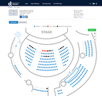 Tix social distance seating chart