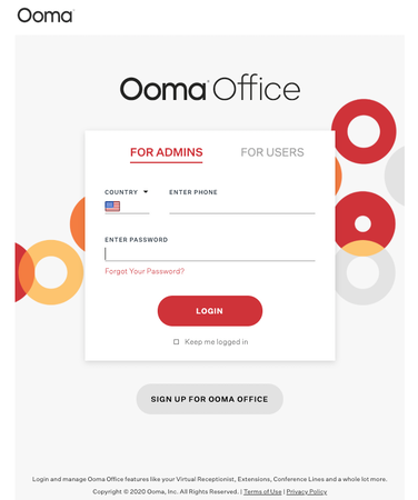 Ooma Customer Login