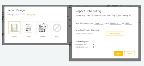 Oribi generate reports