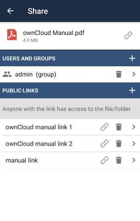 ownCloud file sharing