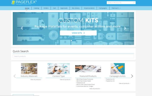 Pageflex quick search
