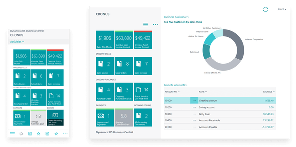 Microsoft Dynamics 365 Business Central Businesses Assistance
