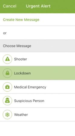 ParentSquare emergency categories