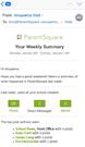 ParentSquare weekly statistics