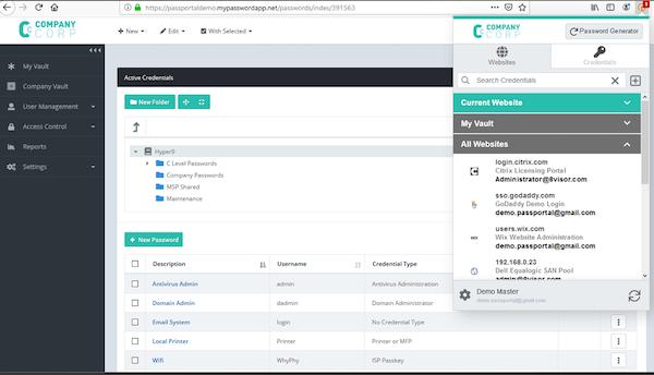 SolarWinds Passportal credential generator screenshot