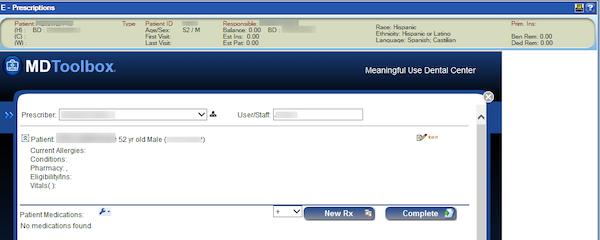 MDToolbox-Rx patient profile screenshot