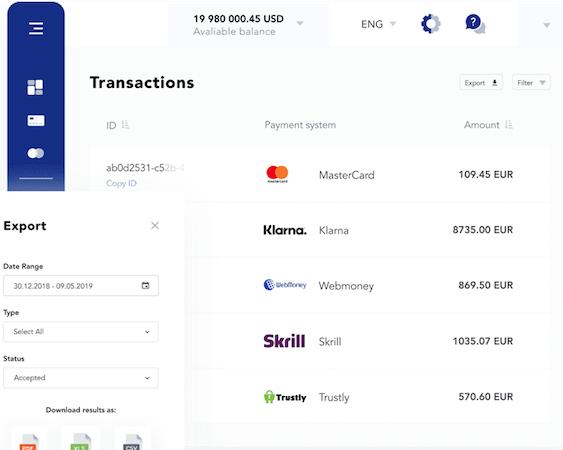 PayOp transactions