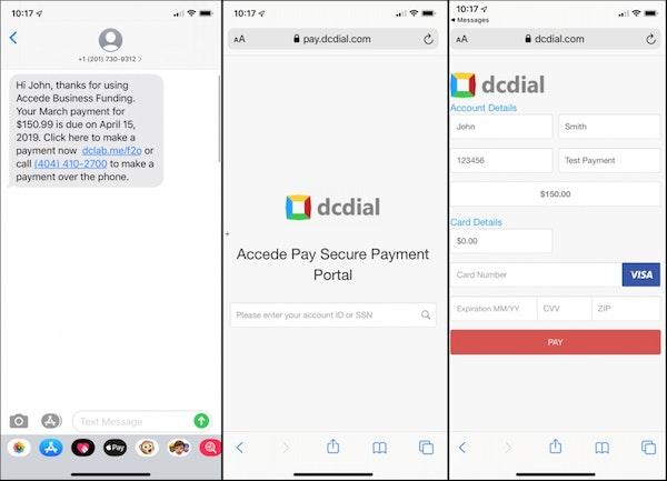 DCDial payment portal