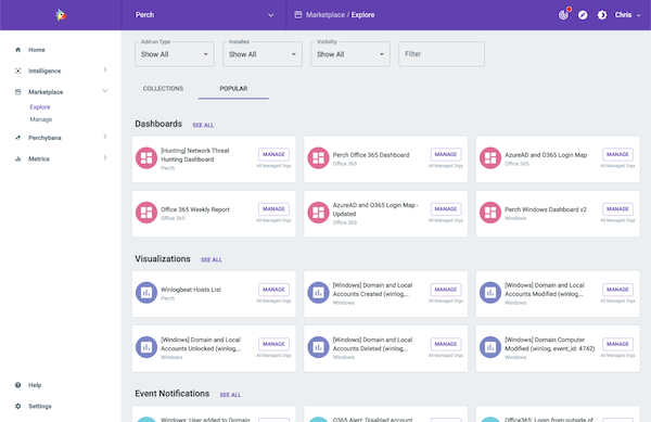 Perch Security marketplace