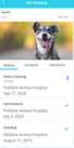 PetDesk pet profiles