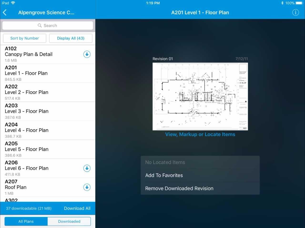 Plans app