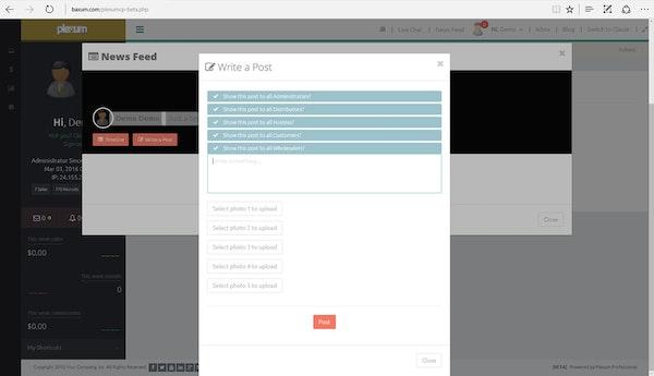 Plexum news feed