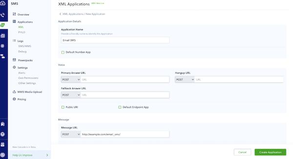 Plivo XML applications