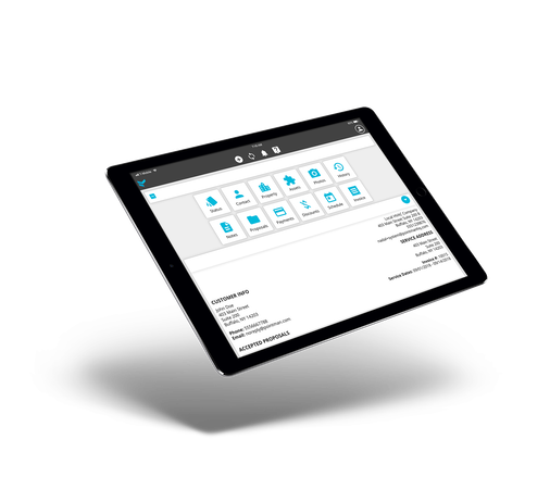 Tablet dashboard