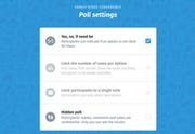 Doodle - Doodle Poll settings
