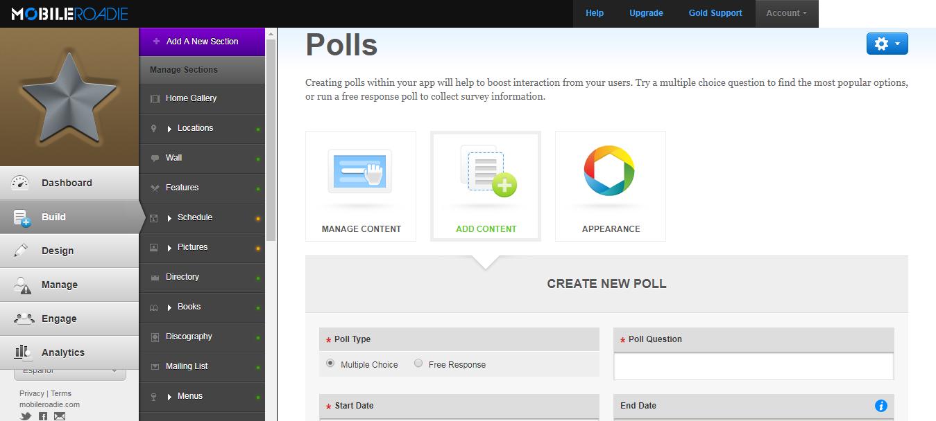 Create polls