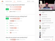 Crowdcast polls management